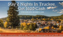 Get $100 Cash When You Book Two Nights