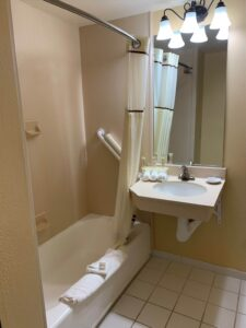 King Bed Executive Accessible Bathroom