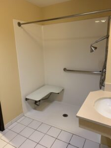 Two Queen Mobility Accessible Bathroom